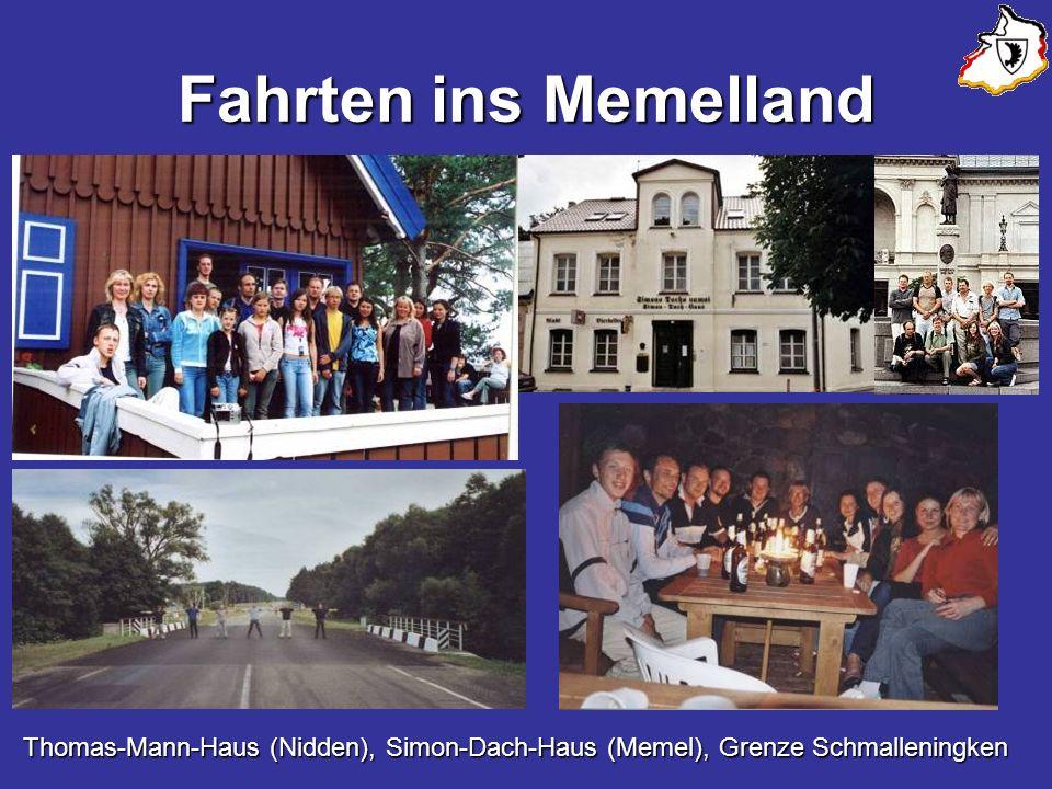Fahrten ins Memelland Thomas-Mann-Haus (Nidden), Simon-Dach-Haus (Memel), Grenze Schmalleningken