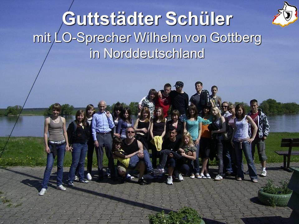 Guttstädter Schüler mit LO-Sprecher Wilhelm von Gottberg in Norddeutschland