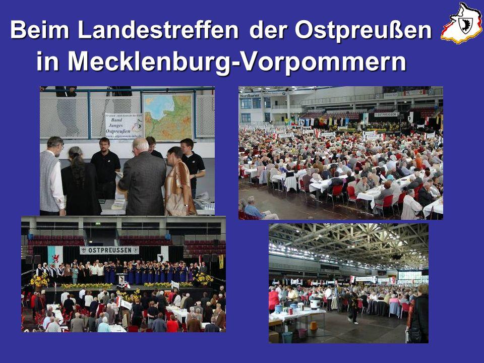 Beim Landestreffen der Ostpreußen in Mecklenburg-Vorpommern