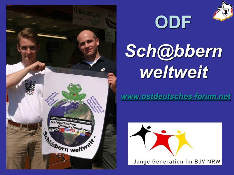 ODF Sch@bbern weltweit www.ostdeutsches-forum.net