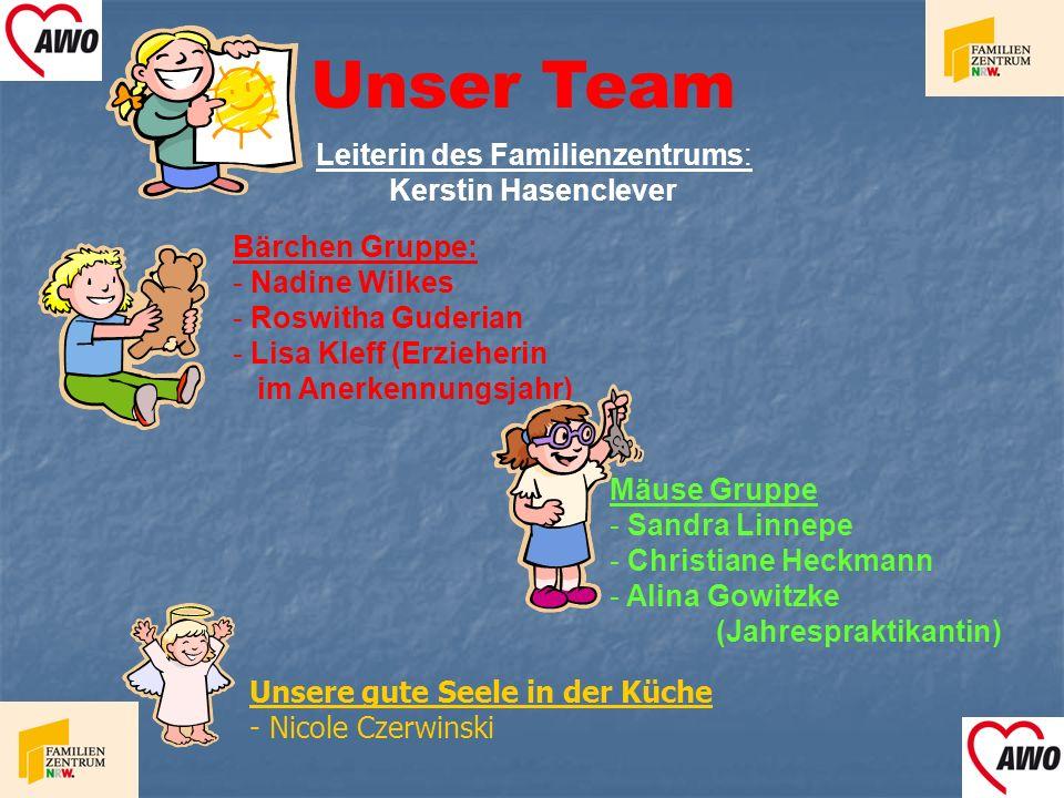 Unser Team Leiterin des Familienzentrums: Kerstin Hasenclever