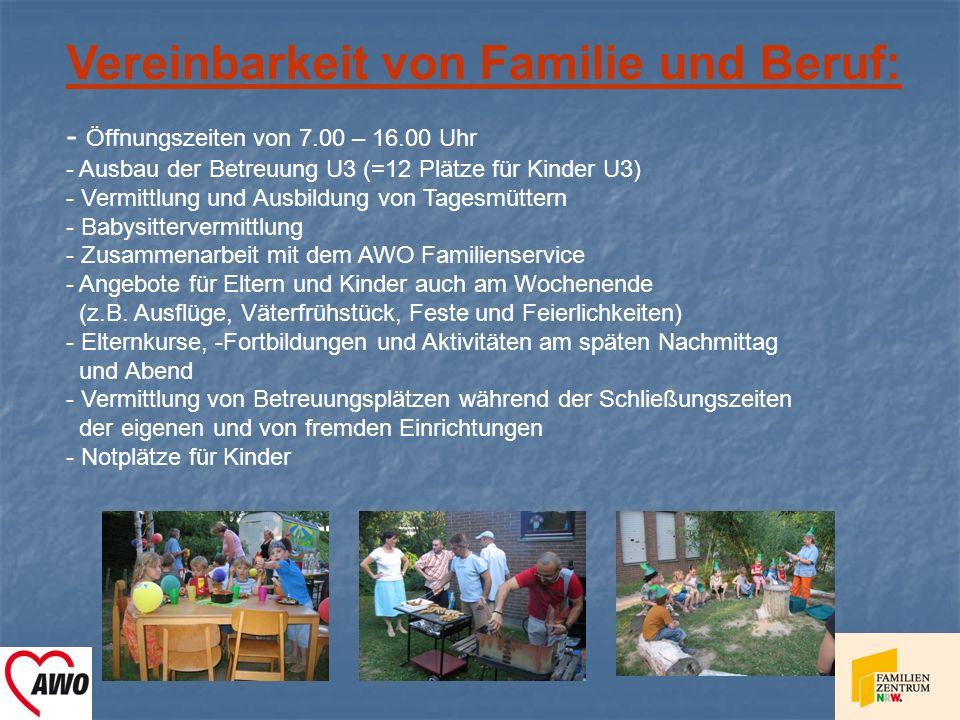 Vereinbarkeit von Familie und Beruf: