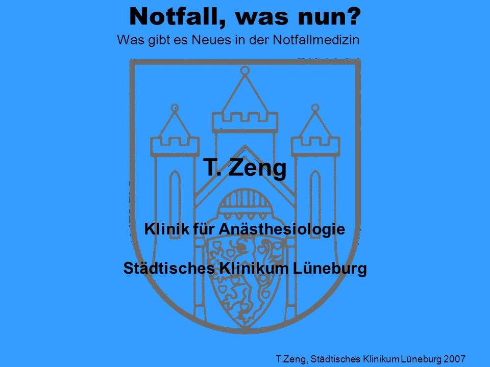 Klinik für Anästhesiologie Städtisches Klinikum Lüneburg