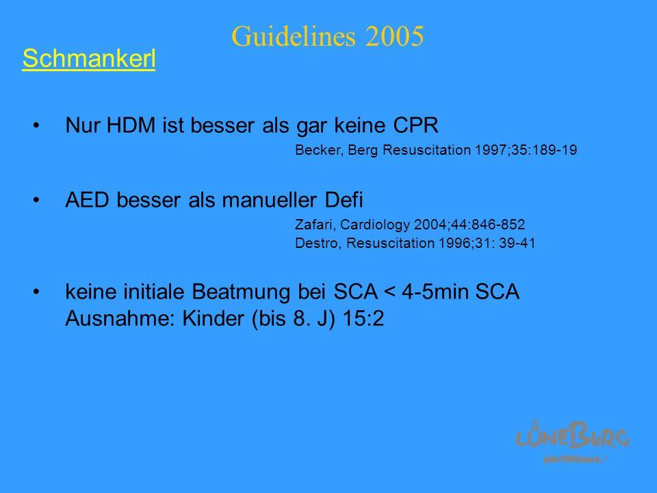 Guidelines 2005 Schmankerl Nur HDM ist besser als gar keine CPR
