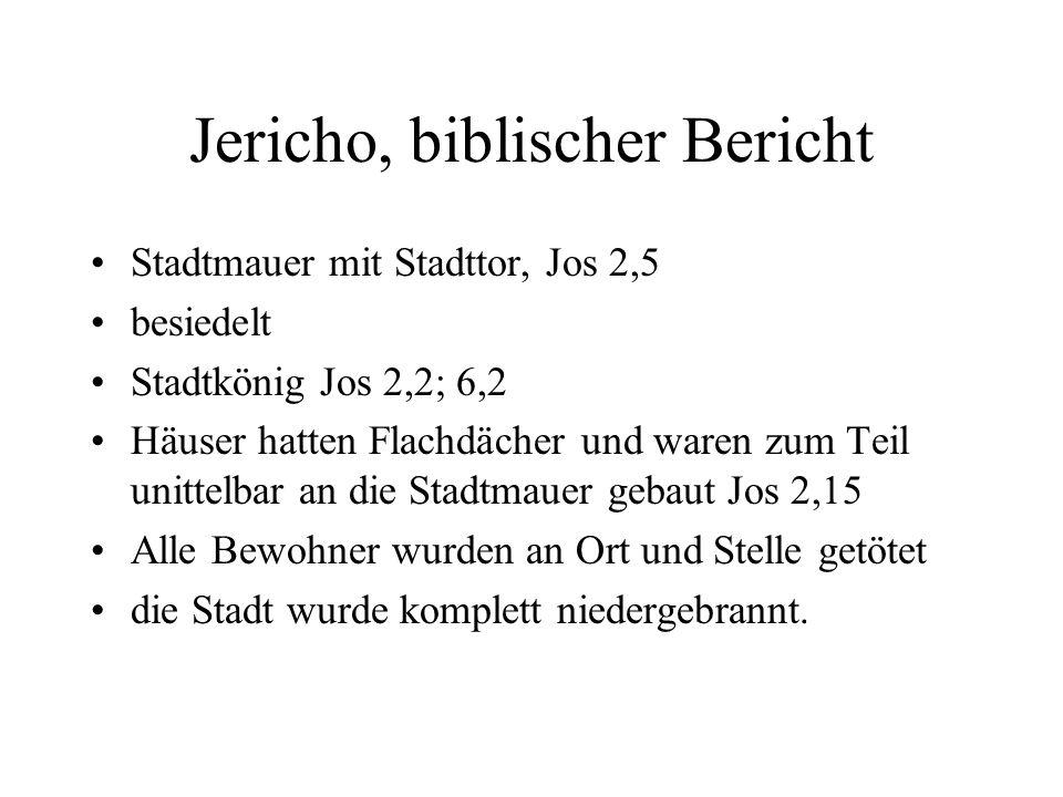 Jericho, biblischer Bericht