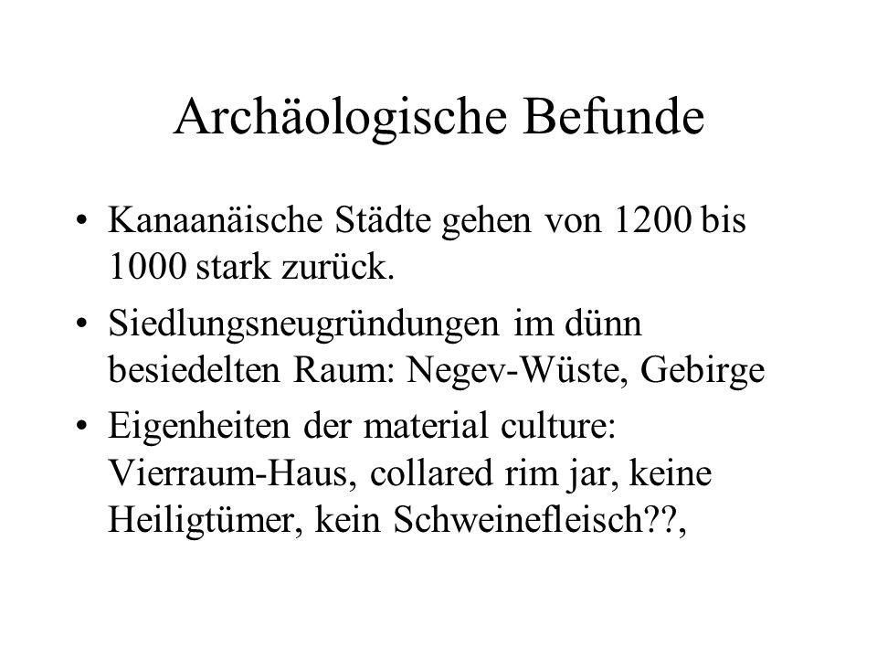 Archäologische Befunde