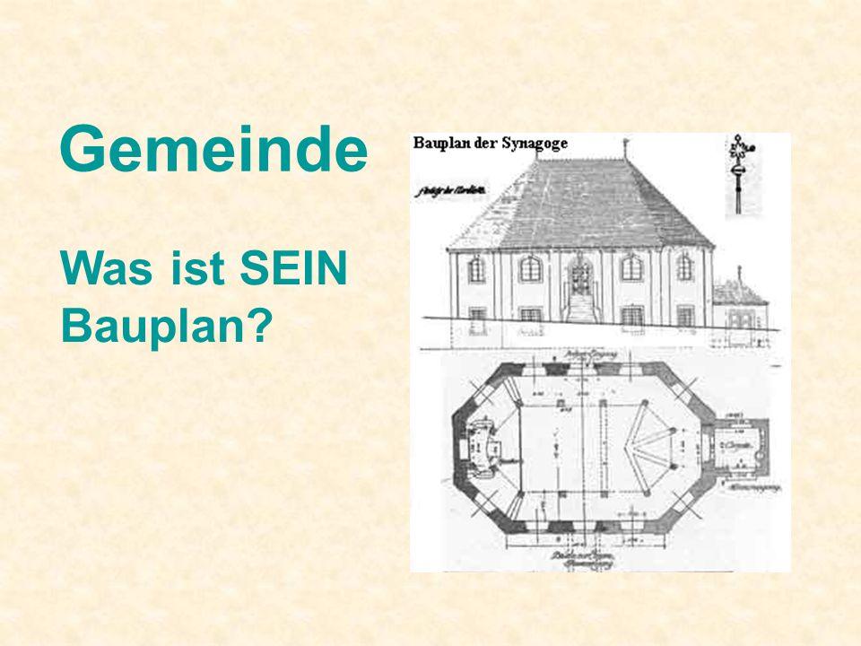 Gemeinde Was ist SEIN Bauplan