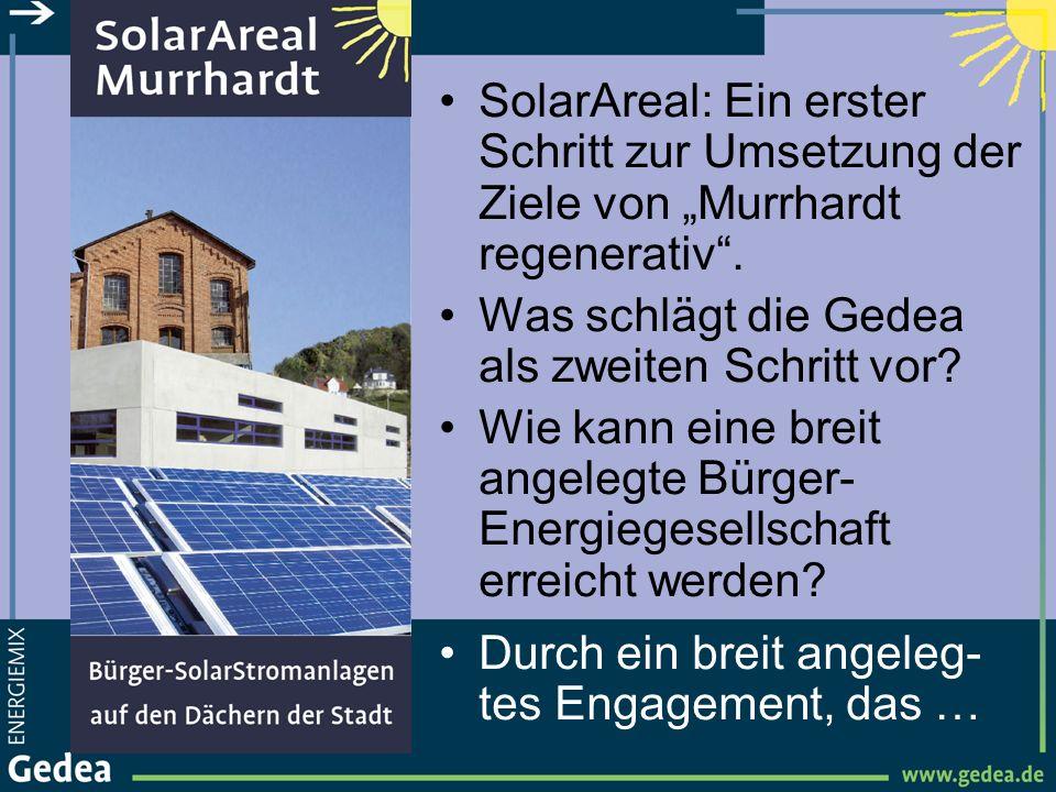 """SolarAreal: Ein erster Schritt zur Umsetzung der Ziele von """"Murrhardt regenerativ ."""