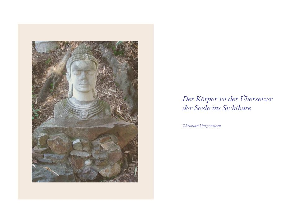 Der Körper ist der Übersetzer der Seele ins Sichtbare.