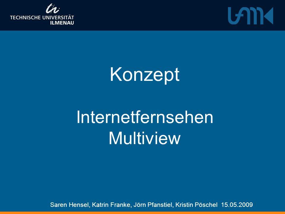 Konzept Internetfernsehen Multiview