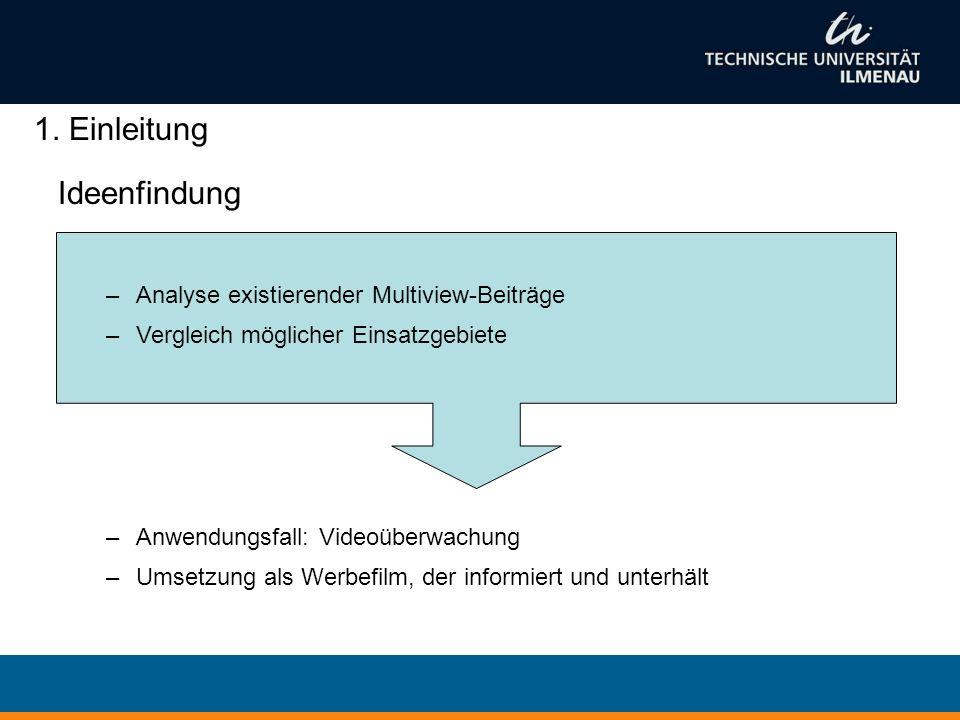 1. Einleitung Ideenfindung Analyse existierender Multiview-Beiträge