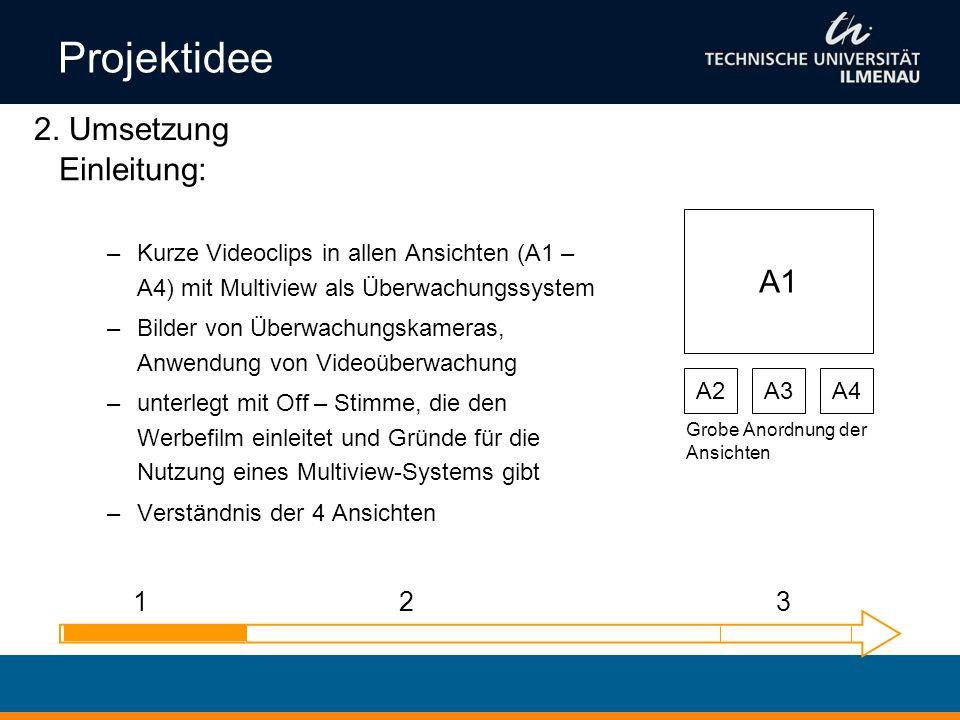 Projektidee 2. Umsetzung Einleitung: A1 1 2 3