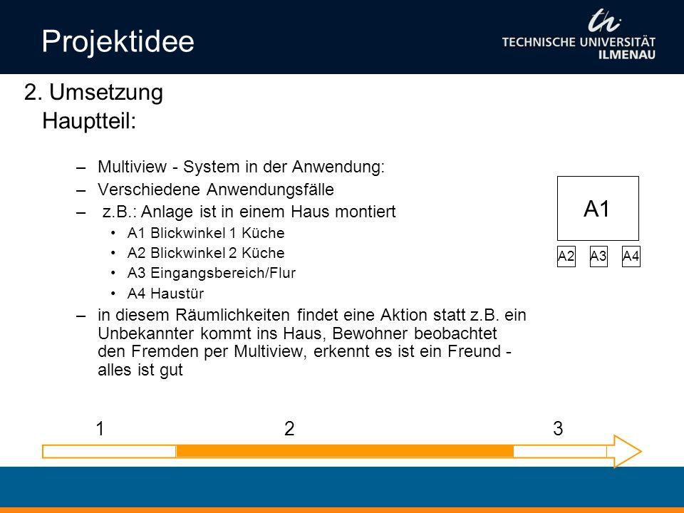 Projektidee 2. Umsetzung Hauptteil: A1 1 2 3