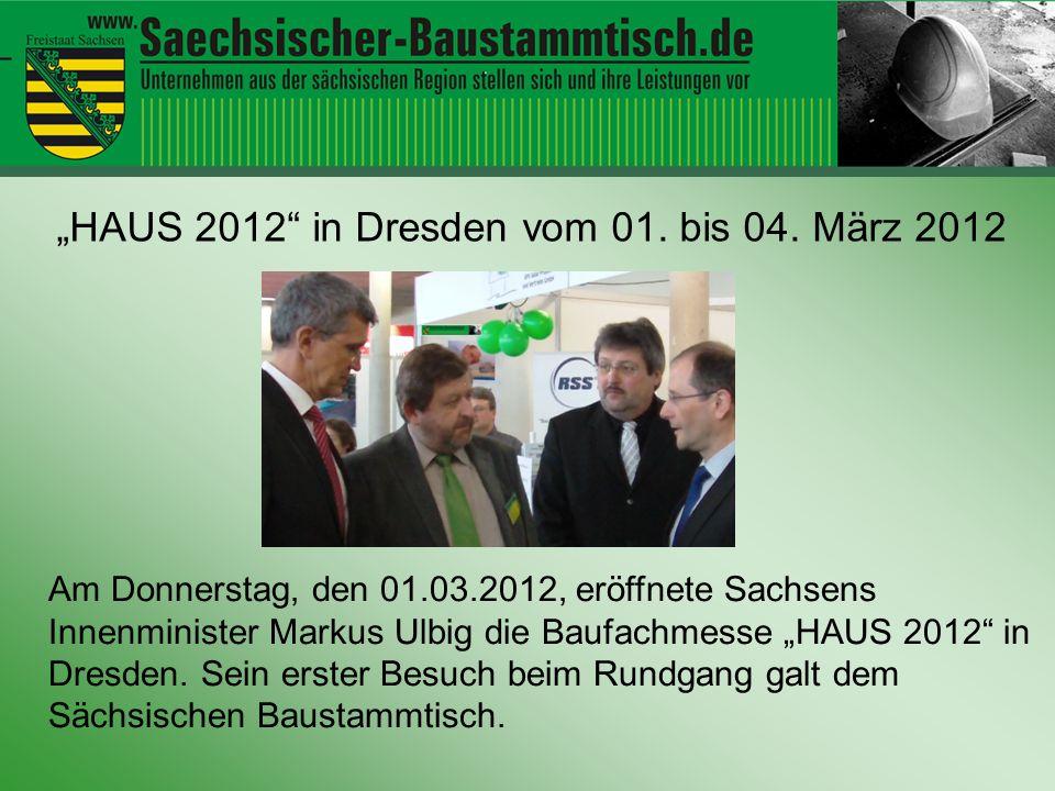 """Hallo ihr Leute """"HAUS 2012 in Dresden vom 01. bis 04. März 2012"""