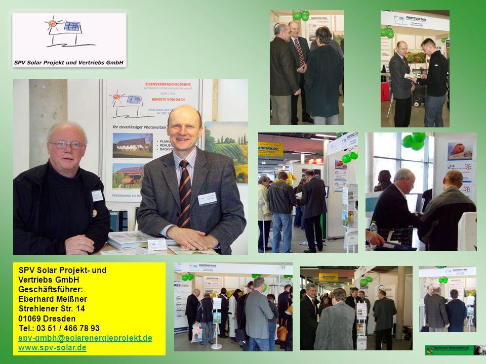 SPV Solar Projekt- und Vertriebs GmbH Geschäftsführer: