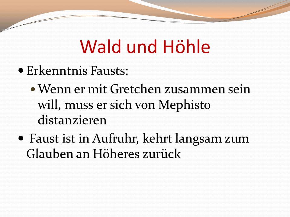 Wald und Höhle Erkenntnis Fausts: