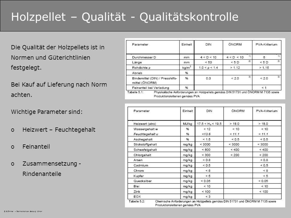 Holzpellet – Qualität - Qualitätskontrolle