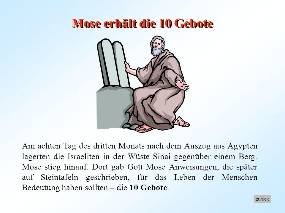 Mose erhält die 10 Gebote