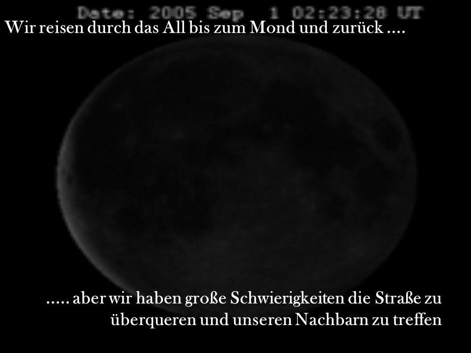 Wir reisen durch das All bis zum Mond und zurück ....