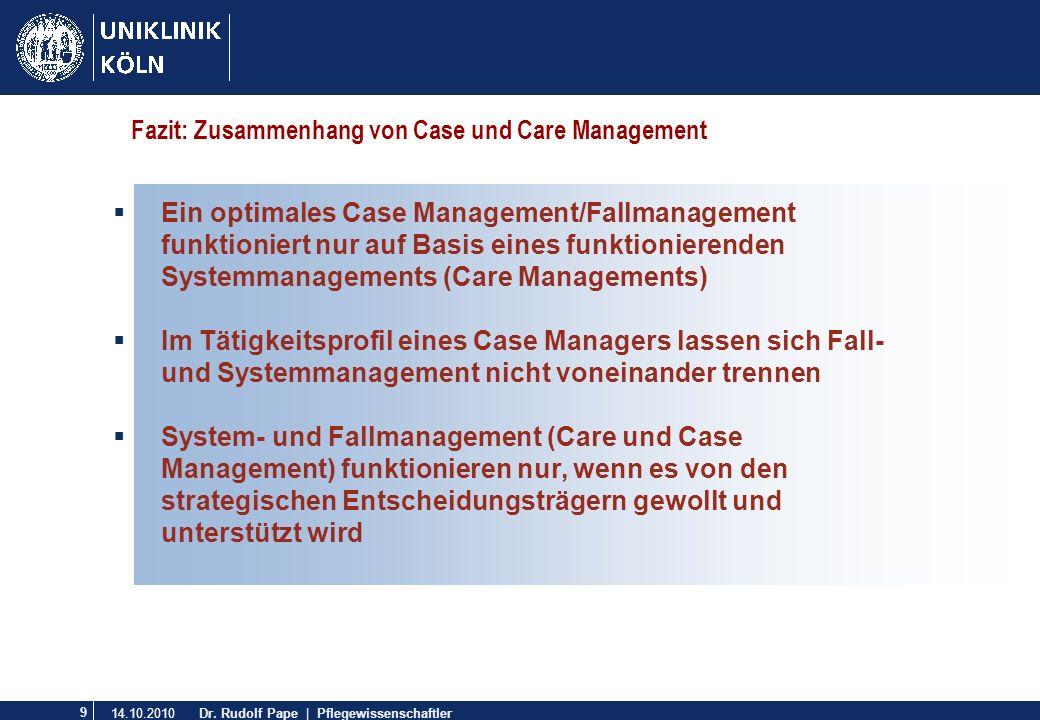 Fazit: Zusammenhang von Case und Care Management