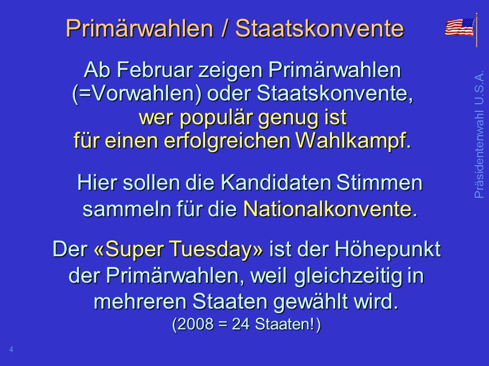 Primärwahlen / Staatskonvente