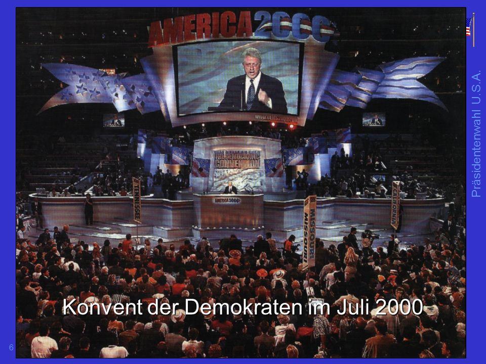 Konvent der Demokraten im Juli 2000