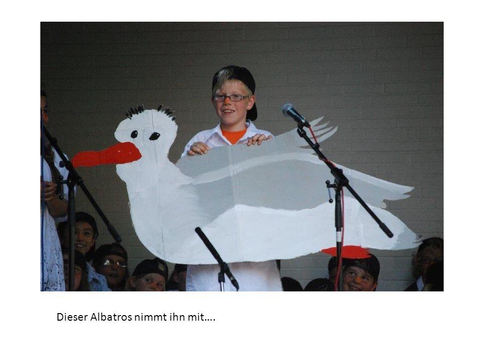 Dieser Albatros nimmt ihn mit….