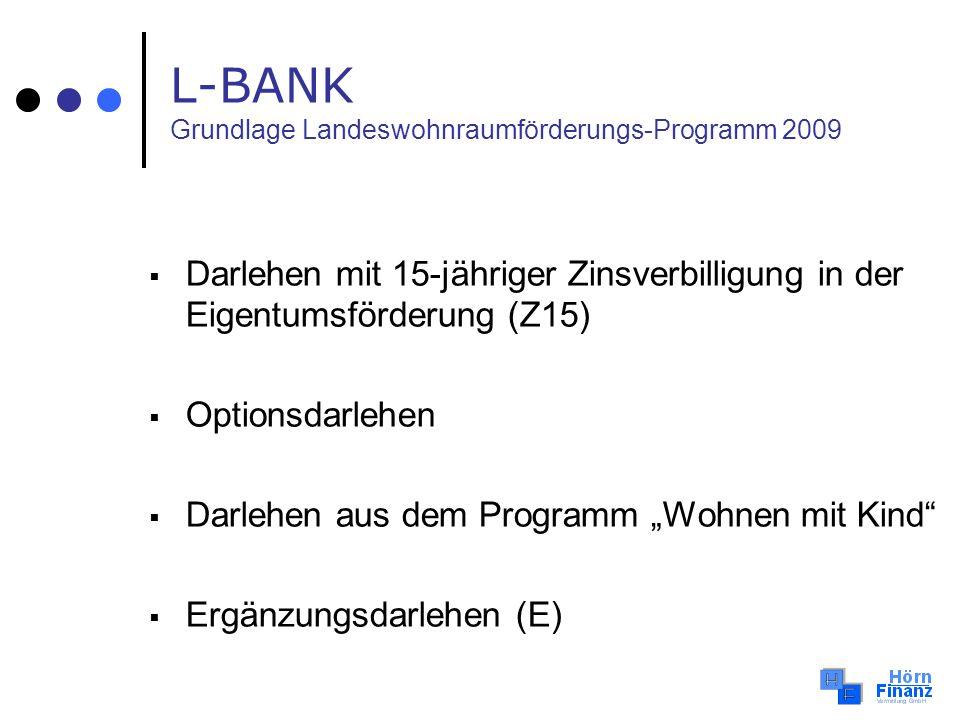 L-BANK Grundlage Landeswohnraumförderungs-Programm 2009