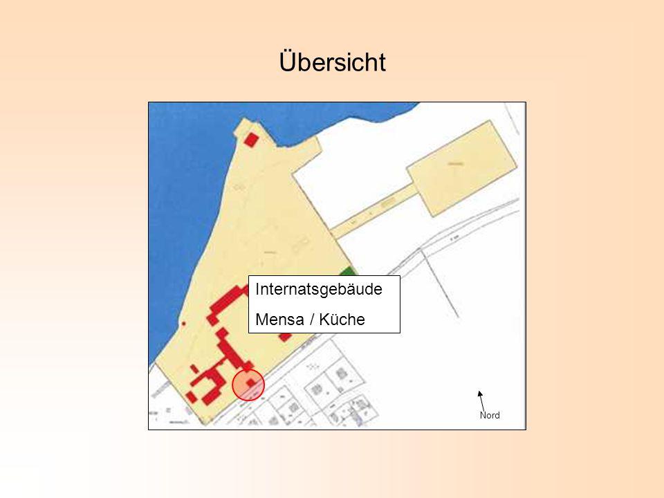 Übersicht Internatsgebäude Mensa / Küche Nord