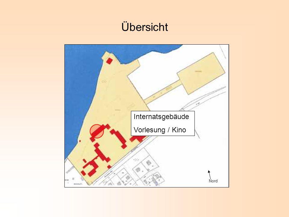 Übersicht Internatsgebäude Vorlesung / Kino Nord