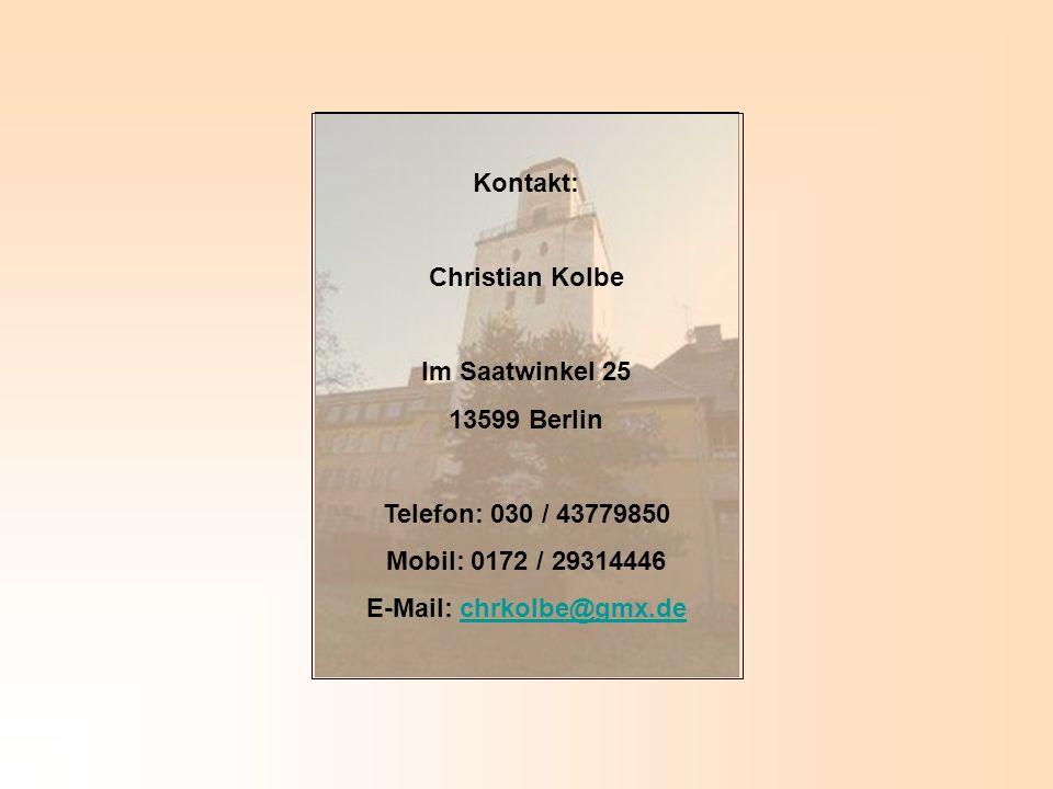 E-Mail: chrkolbe@gmx.de