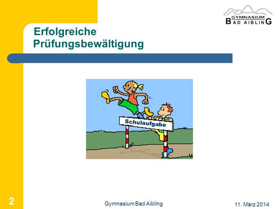 Erfolgreiche Prüfungsbewältigung 2 Schulaufgabe Gymnasium Bad Aibling