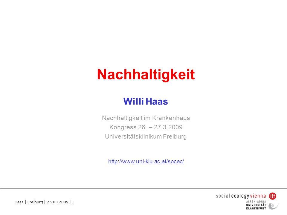 Nachhaltigkeit Willi Haas Nachhaltigkeit im Krankenhaus