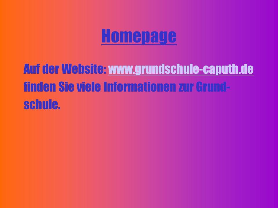 Homepage Auf der Website: www.grundschule-caputh.de