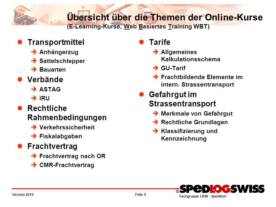 Übersicht über die Themen der Online-Kurse (E-Learning-Kurse, Web Basiertes Training WBT)