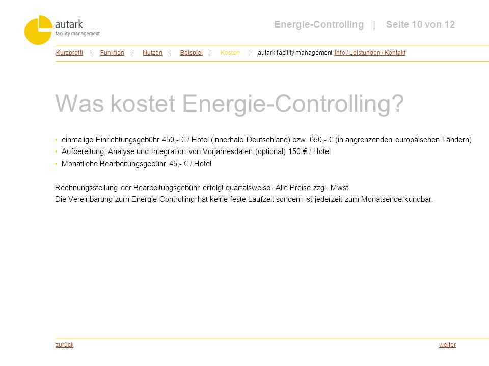 Was kostet Energie-Controlling