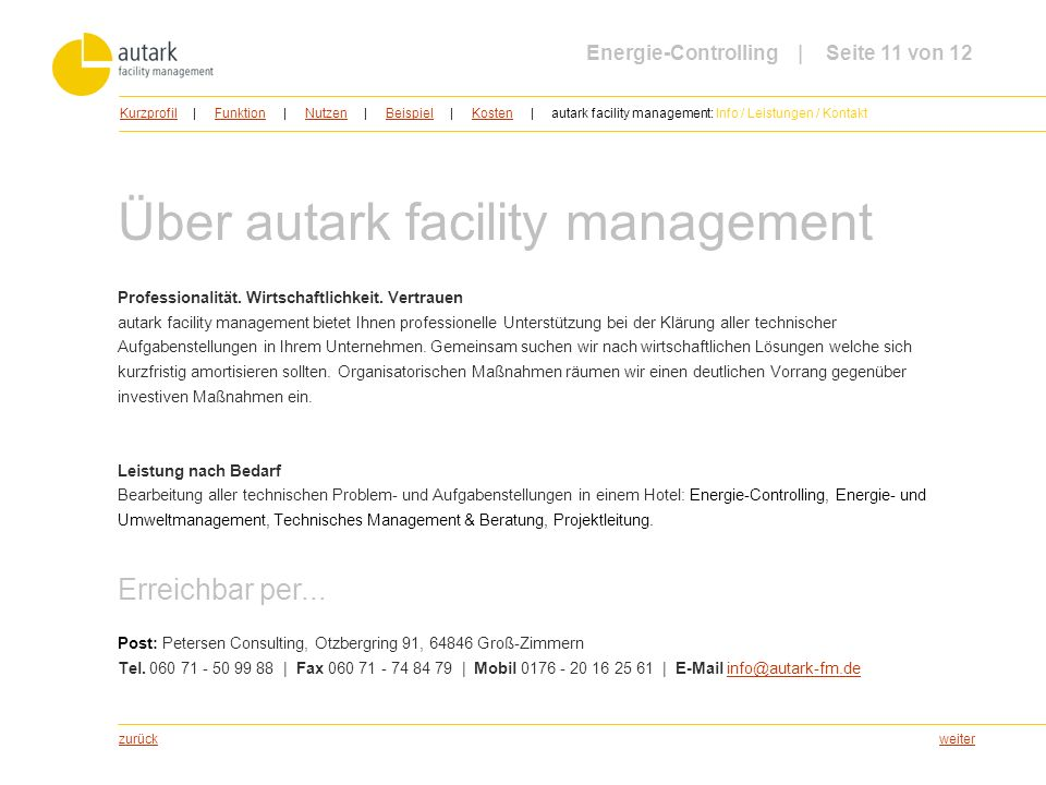 Über autark facility management