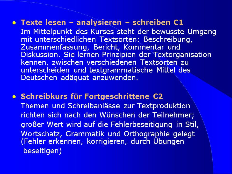 Texte lesen – analysieren – schreiben C1