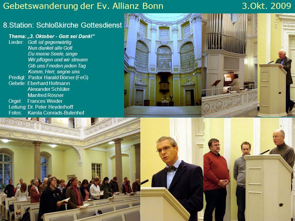 Gebetswanderung der Ev. Allianz Bonn 3.Okt. 2009
