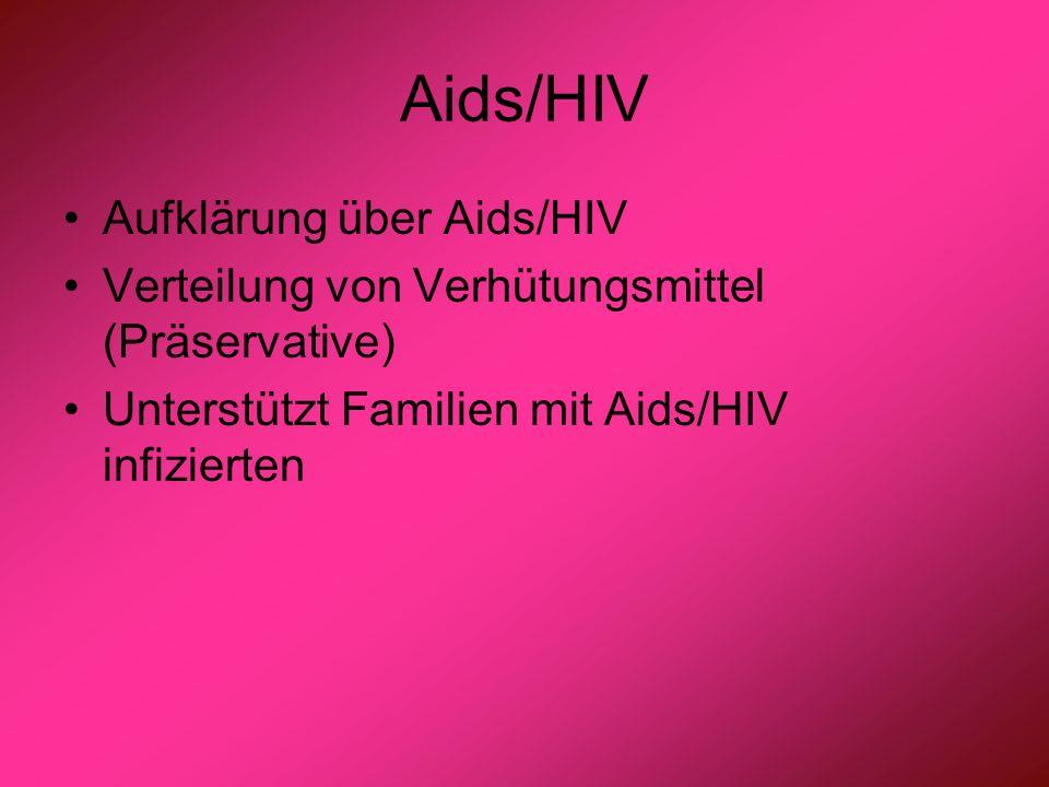 Aids/HIV Aufklärung über Aids/HIV