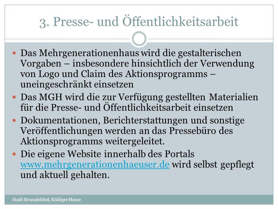 3. Presse- und Öffentlichkeitsarbeit