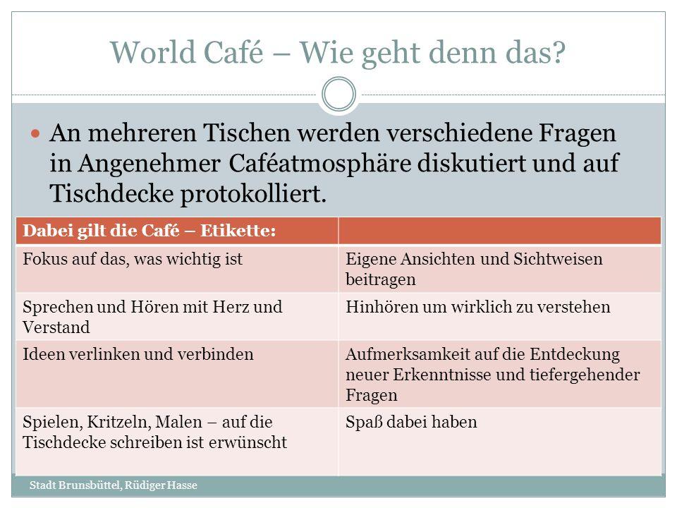 World Café – Wie geht denn das