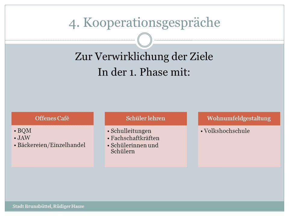 4. Kooperationsgespräche