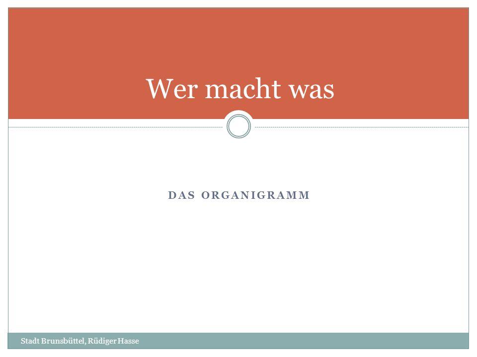 Wer macht was Das Organigramm Stadt Brunsbüttel, Rüdiger Hasse