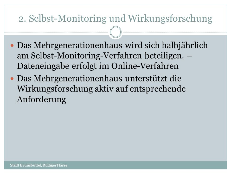 2. Selbst-Monitoring und Wirkungsforschung