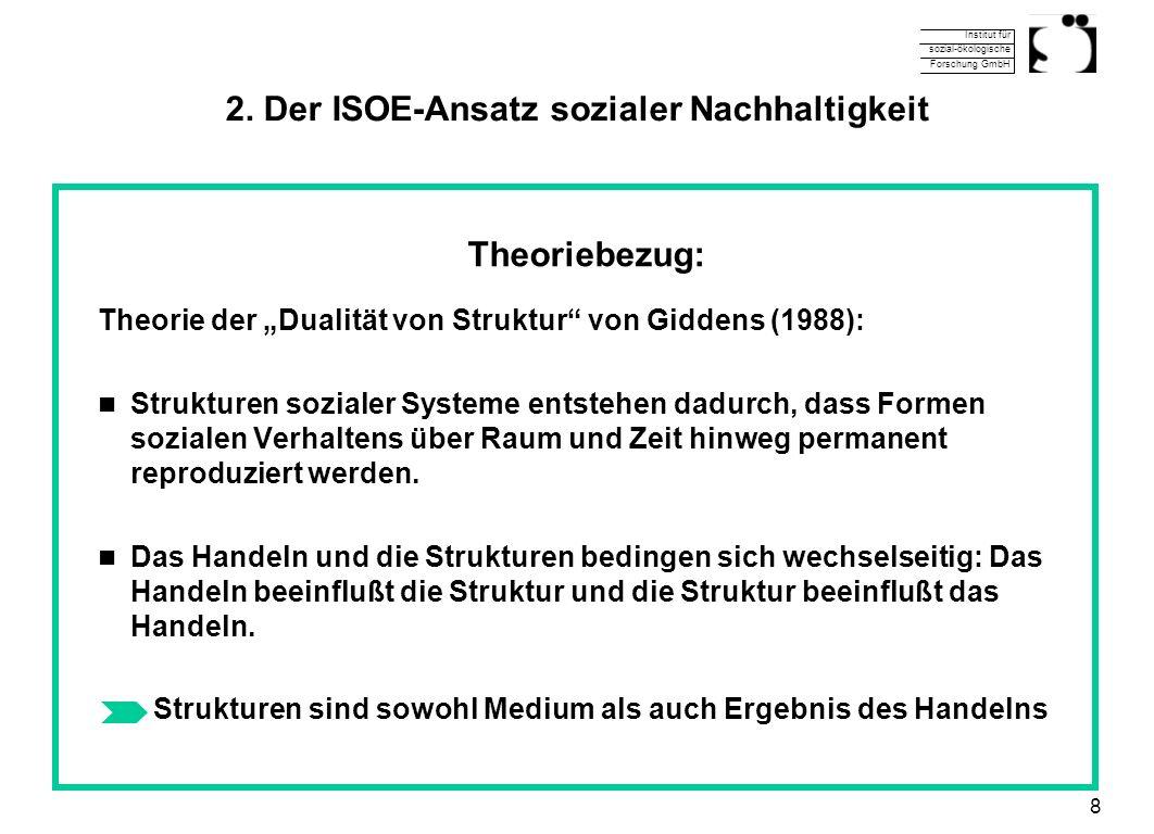 2. Der ISOE-Ansatz sozialer Nachhaltigkeit