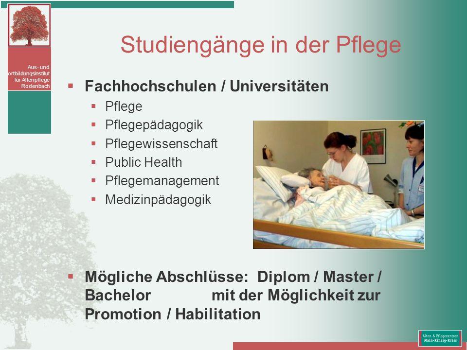 Studiengänge in der Pflege