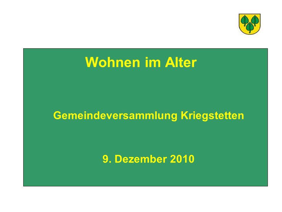 Gemeindeversammlung Kriegstetten