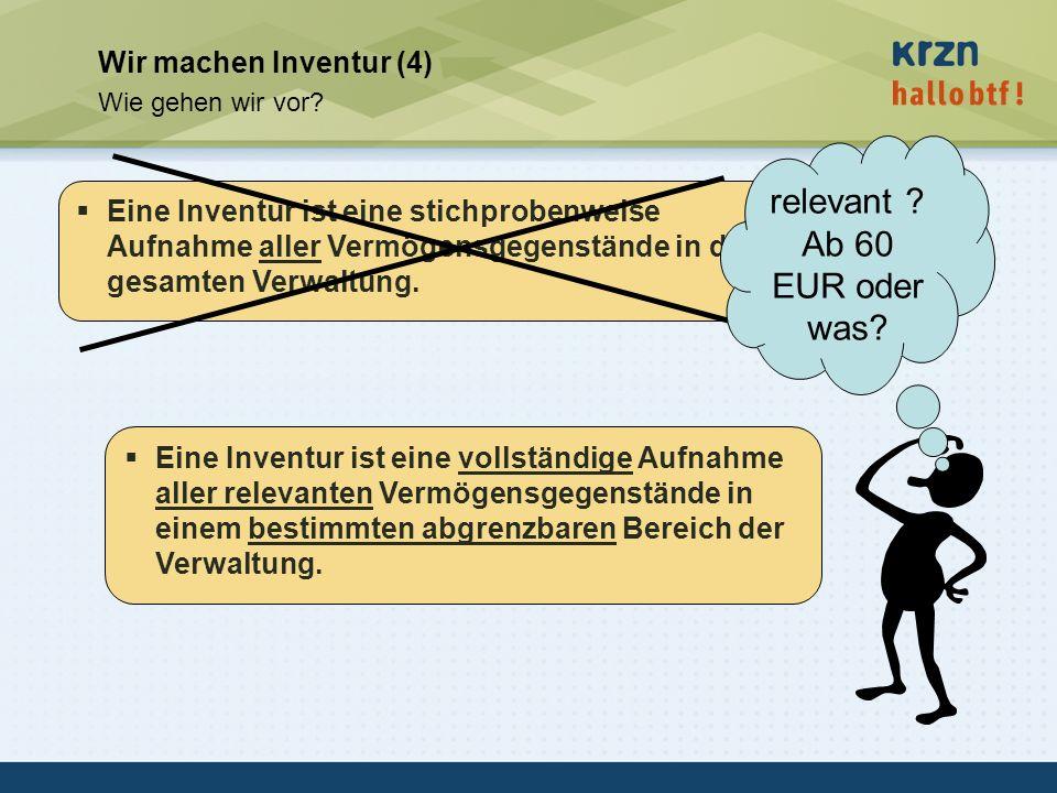 relevant Ab 60 EUR oder was Wir machen Inventur (4)