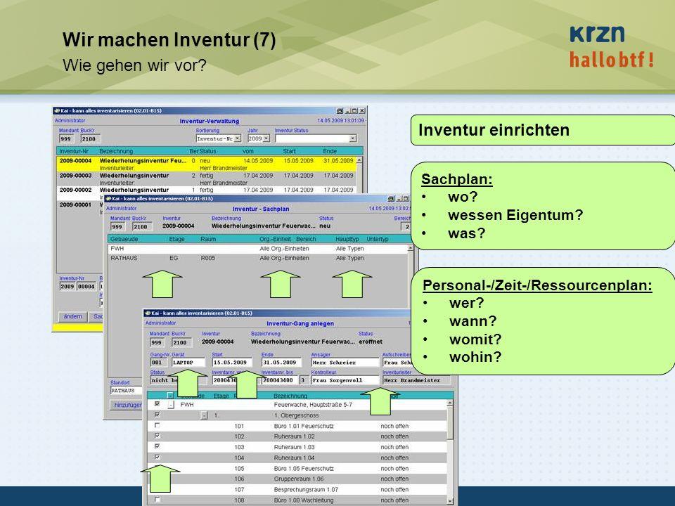 Wir machen Inventur (7) Wie gehen wir vor Inventur einrichten